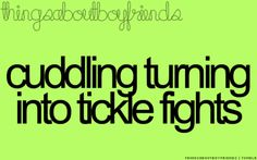 cuddling turning into tickle fights