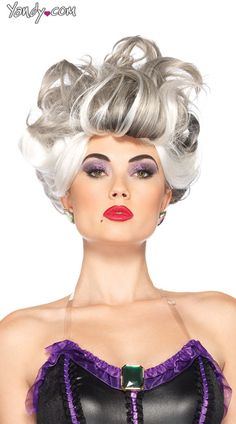 Glam up with Disney Ursula Wig. Endless Range of Ursula Wigs for Halloween at PartyBell. Ursula Disney, Ariel, Disney Disney, Disney Princess, Disney Villain Costumes, Disney Villains, Disney Cosplay, Little Mermaid Costumes, The Little Mermaid