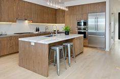 Clean lines and smooth finishes accentuate this kitchen's modern aesthetic. Cesar Chavez, Kitchen Inspiration, Clean Lines, Smooth, Street, Modern, Table, Furniture, Home Decor