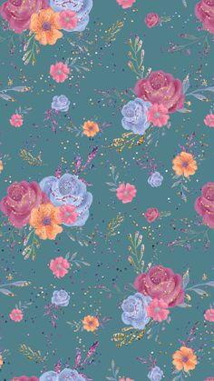 Vintage Flowers Wallpaper, Flower Background Wallpaper, Flower Phone Wallpaper, Butterfly Wallpaper, Cute Wallpaper Backgrounds, Wallpaper Iphone Cute, Pretty Wallpapers, Cellphone Wallpaper, Flower Backgrounds
