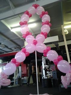 Great balloon design to recognize Breast Cancer Awareness events.