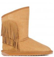 Emu oříškové válenky Woodstock Chestnut s třásněmi - 2700 Kč Emu, Bearpaw Boots, Woodstock, Shoes, Fashion, Moda, Zapatos, Shoes Outlet, Fashion Styles
