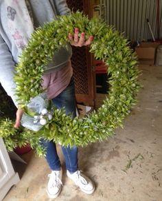Christmas Wreath decorations Grapevine Wreath, Grape Vines, Art For Sale, Christmas Wreaths, Floral Wreath, Earth, Decorations, Studio, Flowers