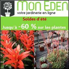 #missbonreduction; Soldes d'été: jusqu'à 60% de remise sur les plantes, produits jardin. http://www.miss-bon-reduction.fr//details-bon-reduction-Mon-Eden-i853484-c1838850.html