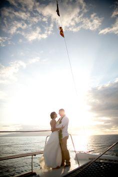 Love on the High Seas { Real Maui Wedding  #Hawaii For more Bridal Style >>> www.modernweddingshawaii.com