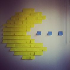 Post-It Note PAC-MAN; Photo by mademietoile on Instagram