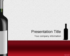Red wines PowerPoint template is a free wines PowerPoint presentation template that you can download for wine industry and wines presentations