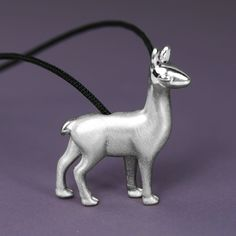 Llama Necklace Pendant - A micro-sculpture in a jewel. Unique solid sterling silver llama pendant, in matte finishing with glossy details to highlight the design. The perfect gift for llama Lover! This jewelry have a wonderful detailing and flawless 3D craftsmanship with my unique repousse technique. #llama #llamapendant #llamanecklace #llamagift #llamajewelry #llamajewellery #llamalover #llamalovergift #llamacharm