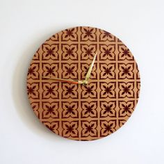Unique Wall Clock Crushed Velvet Decor  Home and by Shannybeebo, $50.00