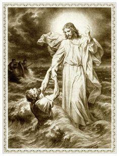 Christ ...Drawing by Heinrich Hofmann