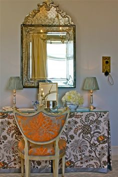 abode love: a man's home is his wife's castle: venetian mirrors