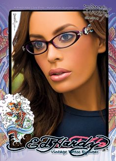 Ed Hardy...oooo what I can see of the glasses look awesome....and they're PURPLE!!