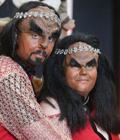 A couple of Star Trek fans from Sweden have exchanged a truly unique set of vows in what is believed to be the UK's first Klingon wedding.