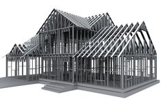 Hebei weizhengheng modular house technology co.Application Of LGSFChannel:Tiny House with Trailer Roof truss,BRT Buss Station Frame Build Roof truss,Residential House Roof truss,Addition and Extensions Wall or Roof trussetc;Welcome to call us. Steel Frame House, Steel House, Prefabricated Houses, Prefab Homes, Steel Framing, Building Information Modeling, Steel Frame Construction, Roof Trusses, Roof Design