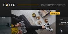 Exito - Creative & Comfortable WordPress Theme by annabalashova Description Exito ¨C Comfortable and creative style WordPress Theme, portfolio, perfect for a young agency, studio or freelancer. Y