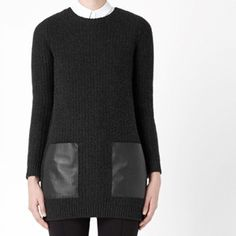 Leather Pocket Jumper by COS | http://fancy.com/things/494078572416210154/Leather-Pocket-Jumper-by-COS?ref=therealoliviap&action=buy