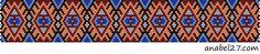 Схемы браслетов - мозаичное плетение