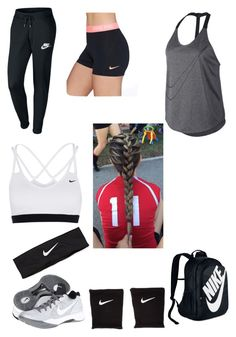 """VOLLEYBALL"" by shieldcaptinamerica ❤ liked on Polyvore featuring NIKE"