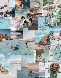 Ocean aesthetic collage
