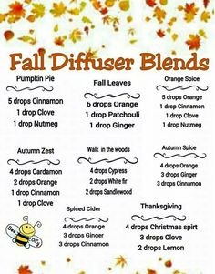 Young Living fall diffuser blends. | www.theoilessentials.com
