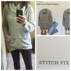 I LOVE this sweater. Would love to see it in my next Stitch Fix. Looks so cozy. Lada Cowl Neck Sweater by RD Style...Stitch Fix
