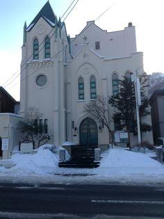 函館市(Hokkaido).  A quiet town. A Church in snow.  #From the streets of Tokyo