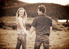 Brainard Lake Ward Colorado Mountain Engagement rustic smiling