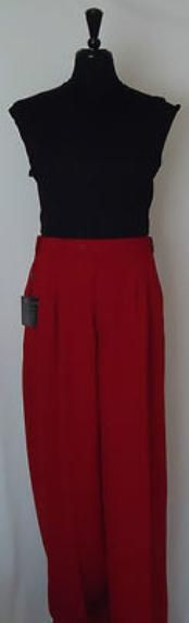 Flattering on all body types, you will never regret shopping our Mens Red Super Wide-Leg Pleated Baggy Dress Pants. Mens Wide Leg Trousers, Mens Slacks, Wide Leg Pants, Formal Vest, Formal Shirts, 1940s Mens Fashion, Baggy Dresses, Tie Matching, Dress Trousers