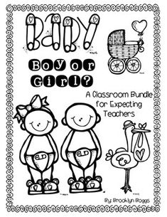 This packet will get your kids excited about you having a baby. The students will guess if you are having a boy or girl and tell why. They will graph the class results and answer questions based on the graph. Students will also create a classroom Baby Advice Book, where they give you advice on what to do when the baby does certain things.
