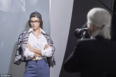 Cara Delevingne gets back in front of the camera for the Chanel Spring 2016 eyewear campaign by Karl Lagerfeld