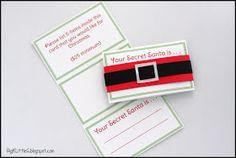 Big K Little G: Free Printable: Secret Santa Drawing Gift Tags with Wishlist