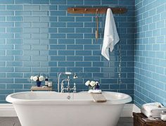 I love the teal brick. .. and think that I have convinced the other half that this is the way forward ♥