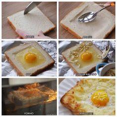 variando o lanche pão com ovo