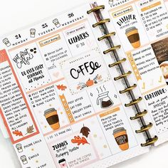 How could we possibly pass up an opportunity to celebrate COFFEE 😍 ... Happy Planner®️ SQUAD member, Mary Ellen (@planningwithbumble)…
