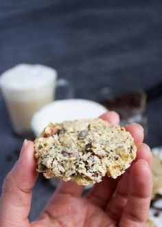 These Coffee Bean Crunch Italian Cookies are the best lightest cookies ever! Made with almond flour only. Gourmet Recipes, Sweet Recipes, Cookie Recipes, Dessert Recipes, Gourmet Foods, Keto Recipes, Great Desserts, Delicious Desserts, Nyc Coffee Shop