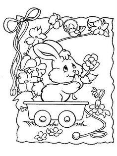 Coloriage Paques – Lapins 2 à colorier Easter Egg Coloring Pages, Spring Coloring Pages, Easter Coloring Pages, Coloring Book Art, Doodle Coloring, Coloring Pages For Kids, Free Coloring, Precious Moments Coloring Pages, Easter Templates