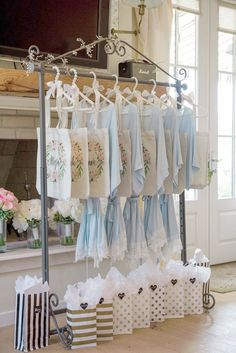 Bridesmaids getting ready robes and monogram totes \/\/ bridesmaids gifts wedding party getting ready robes wedding day