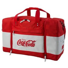 Men's Hex Coca Cola Sneaker Duffel Bag (5,530 THB) ❤ liked on Polyvore featuring men's fashion, men's bags, red, mens bag, mens duffle bags and men's duffel bags