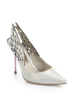 Fly me! Sophia Webster - Evangeline Winged Leather Sandals - Saks.com