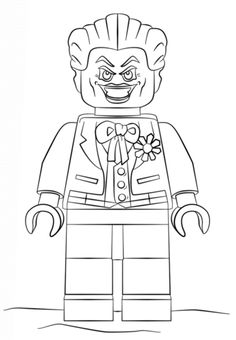 Lego Batman Joker Coloring Pages Printable And Book To Print For Free Find More Online Kids Adults Of