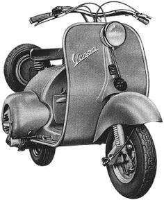 1953 Vespa Ad