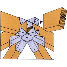 Simpson Gazebo Connector for six-sided Zmax Finish.Connects six rafters at top of six-sided gazebo. Attached Pergola, Deck With Pergola, Wooden Pergola, Pergola Plans, Pergola Ideas, Diy Pergola, Pergola Kits, Roof Brackets, Gazebo Roof