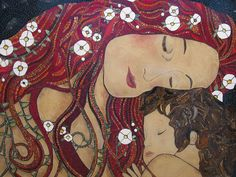I just love this painting by Klimt. I hope I have done it justice. 4ftx3ft large glass on wood
