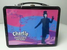 Damaged Dinted & Dinged  Charlie & The Chocolate Factory lunch box with thermos