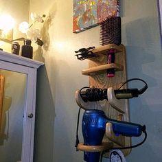Curling Iron Storage, Curling Iron Holder, Flat Iron Holder, Hair Dryer Organizer, Hair Dryer Storage, Hair Dryer Holder, Automatic Curling Iron, Automatic Hair Curler, Garage Workbench Plans