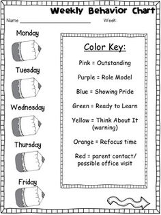 "Behavior Clip Chart - ""Stick Kid""-themed I would change the pencils to bees to fit my bumble bee theme First Grade Classroom, Kindergarten Classroom, School Classroom, Classroom Ideas, Classroom Behavior Management, Student Behavior, Behavior Tracking, Behaviour Management, Behavior Clip Charts"