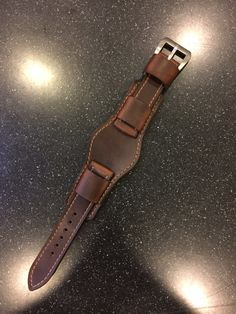 Custom for Frank 922Leather.com Horween Leather Bund Watch Strap