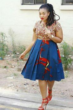 Go to >> Stylesonstyles.com for more styles like this African Dresses For Women, African Print Dresses, African Print Fashion, Africa Fashion, African Attire, African Fashion Dresses, African Wear, African Women, Fashion Outfits