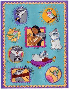 Disney dare to dream pocahontas beauty book
