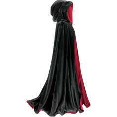 Black and Red Reversible Cape ($120) ❤ liked on Polyvore featuring cloaks, jackets, cape, dresses and outerwear